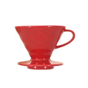 HARIO COFFEE DRIPPER V6002 CERAMIC RED